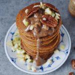 Svampede pandekager med græskar og æble 3