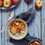 Efterårsgrød med æble, kanel og peanutbutter 3