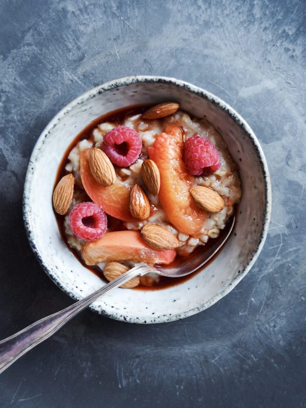 Peach melba i grød-edition
