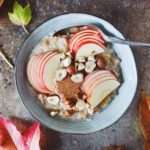 Mysligrød med æble og nougat nøddesmør 1