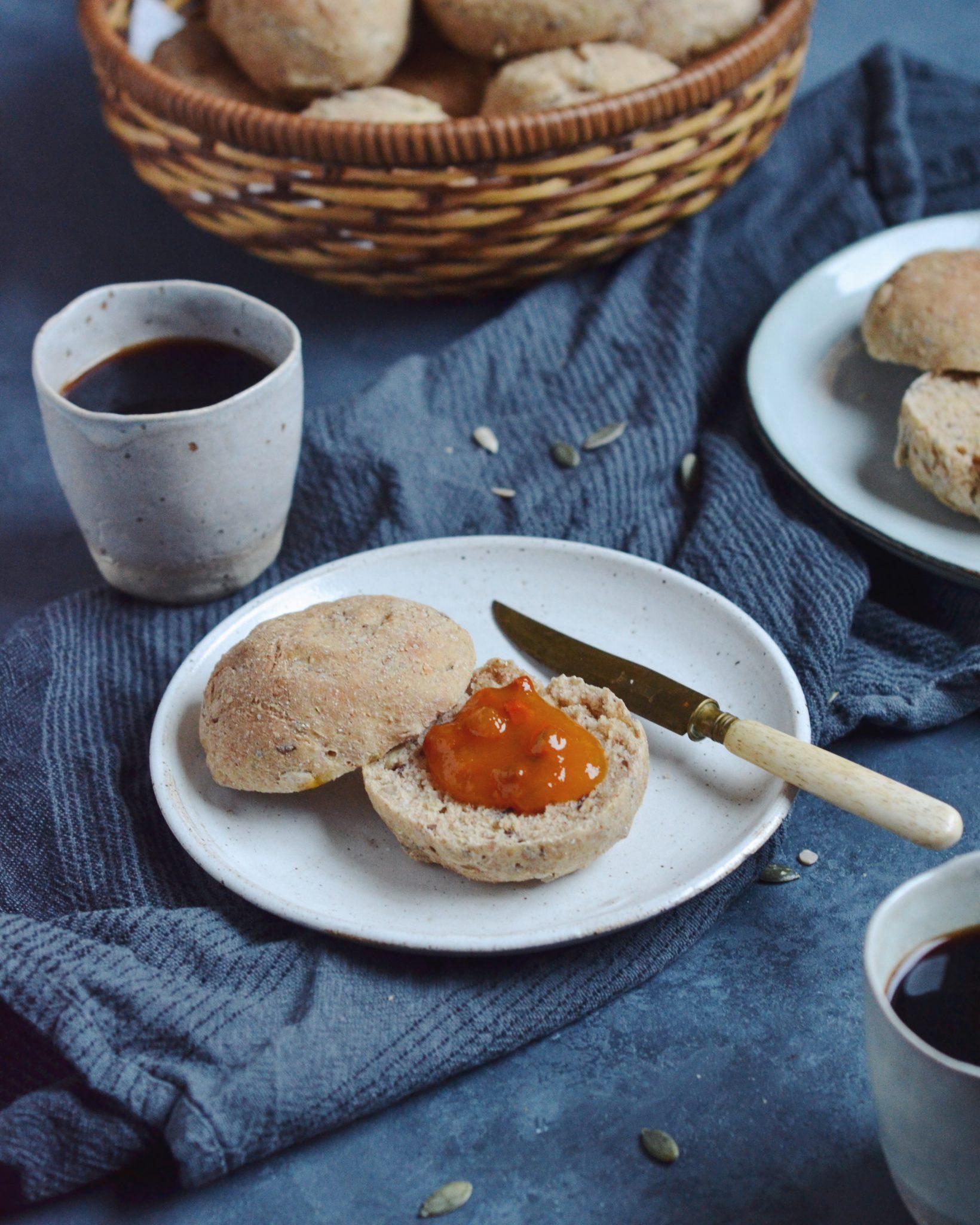 Hurtige og sunde morgenboller med kerner 3