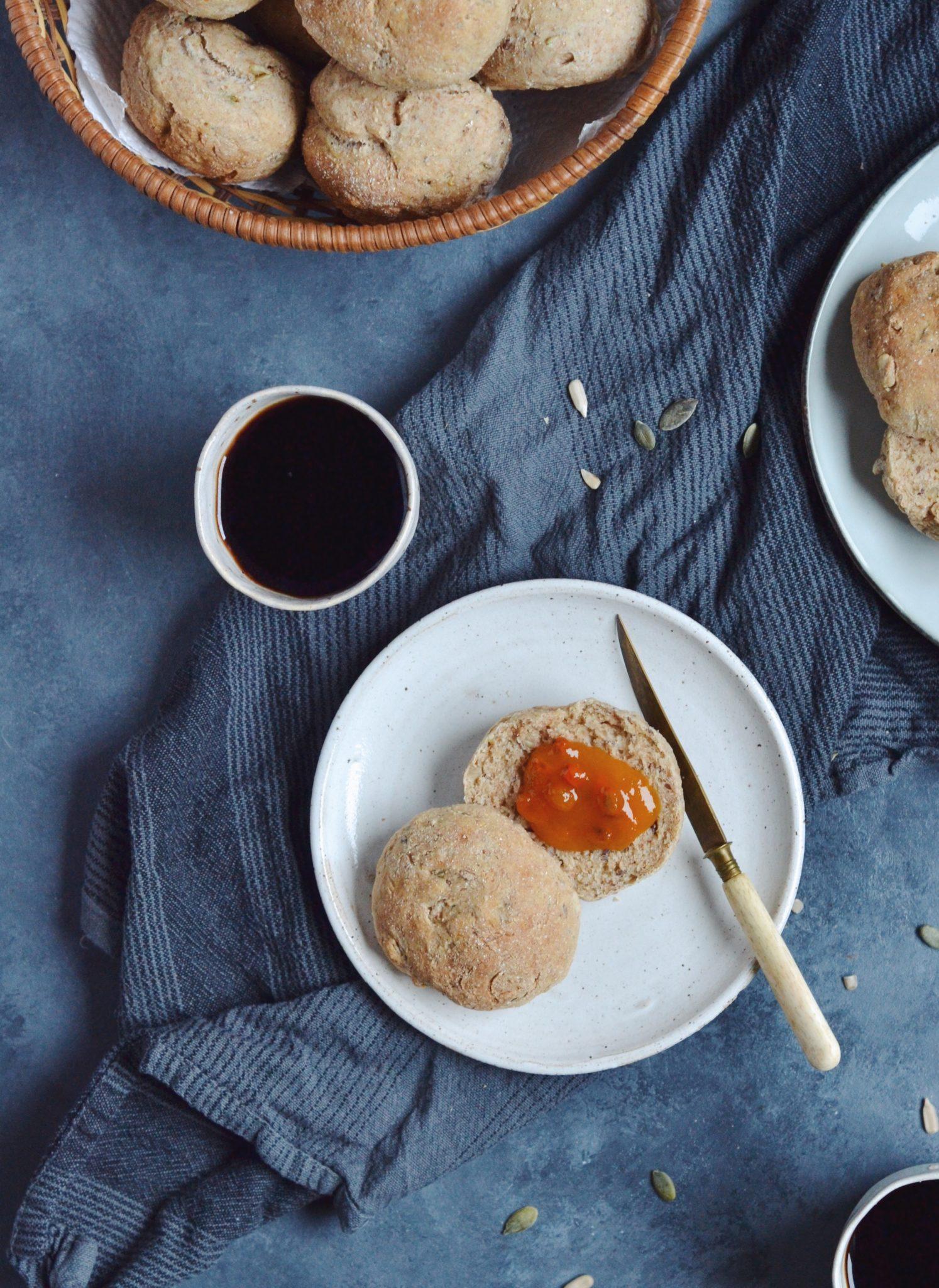 Hurtige og sunde morgenboller med kerner 2