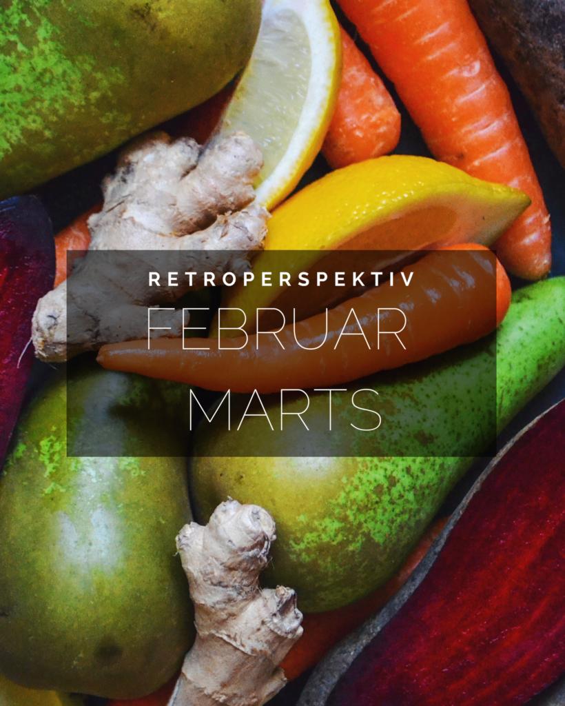 Retroperspektiv // tilbageblik på februar & Marts