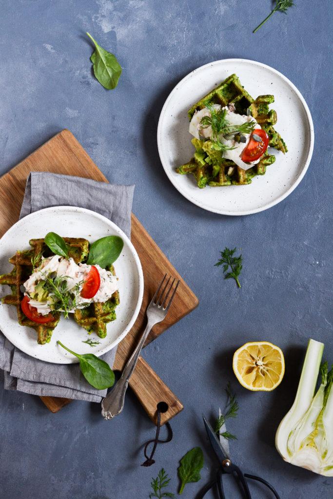 Spinatvafler med laksesalat 2
