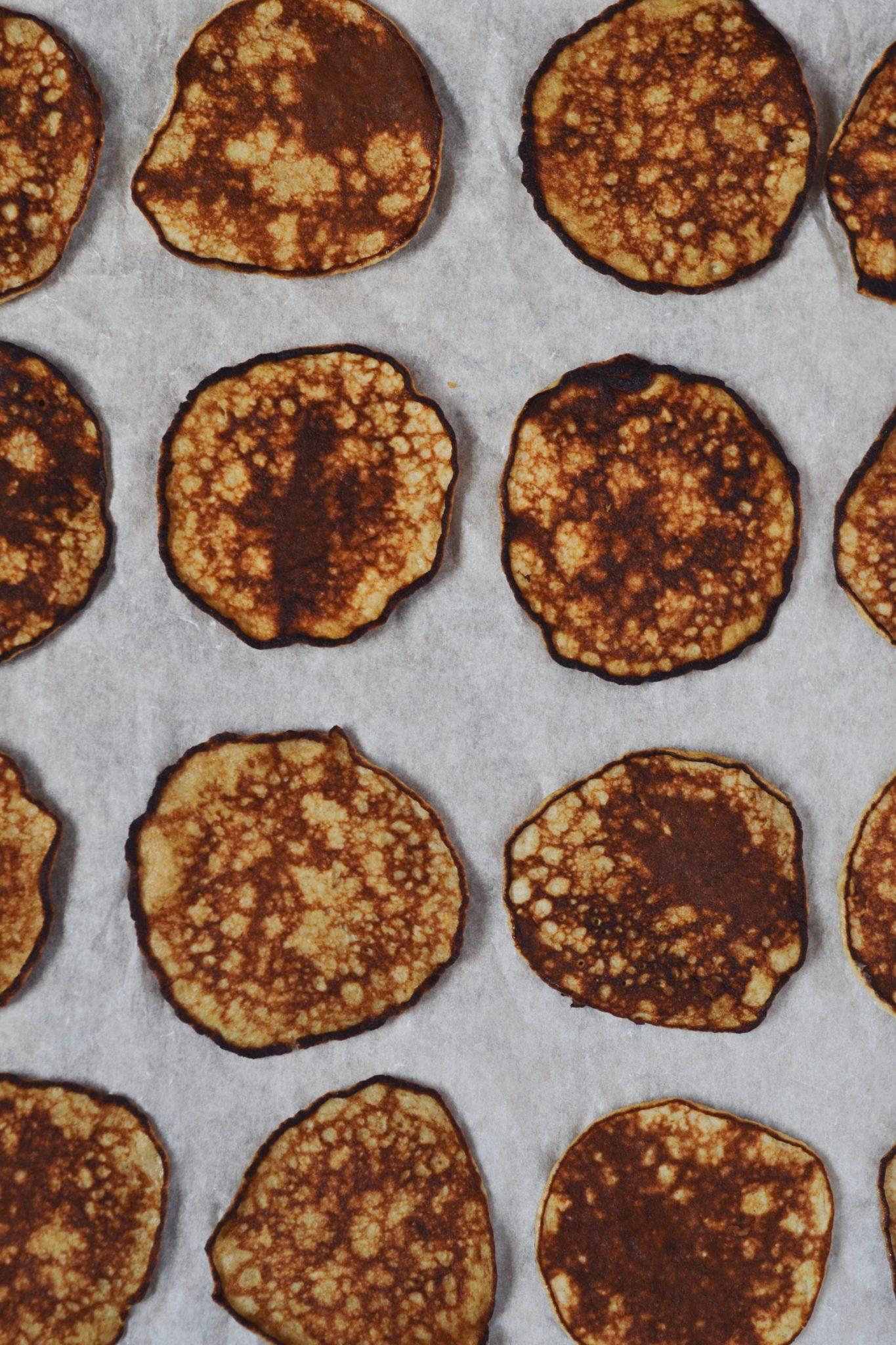 bananpandekager uden mel og sukker med 3 ingredienser
