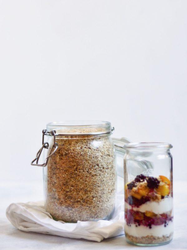 Müsli-støv uden tilsat sukker