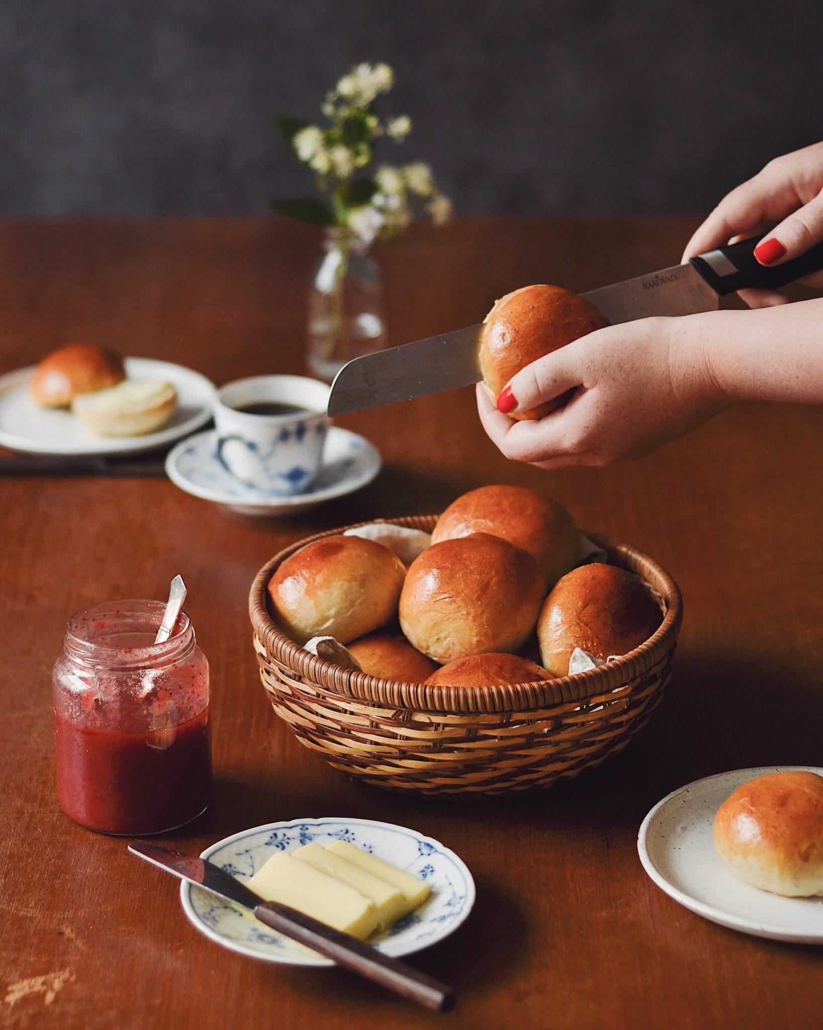 farmors bløde bamseboller - fødselsdagsboller - teboller - theboller