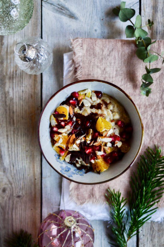 Julegrød med varme krydderier