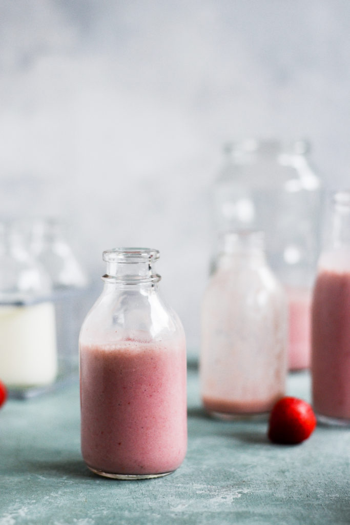 Sund jordbær milkshake 1