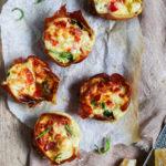 luftige æggemuffins med spinat og peberfrugt opskrift